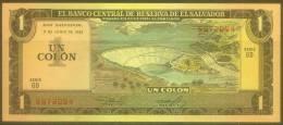 El Salvador 1 Colon Note, P133A, UNC - El Salvador