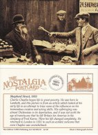 Postcard LONDON Shepherd Street Market Lambeth 1933 Charlie Chaplin Nostalgia Hulton Repro - Markets