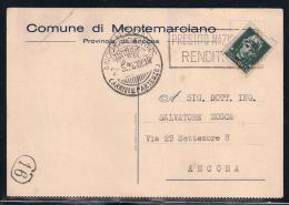 MONTEMARCIANO - COMUNE DI MONTEMARCIANO - 1.5.1936. - Ancona