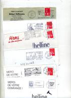 Lot Lettres Flamme Theme Vin  Raisin - Postmark Collection (Covers)
