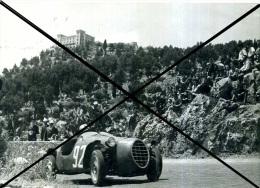13 MONTEPELLEGRINO 1953 CORSA IN SALITA PALERMO MARIO PICCOLO SU NARDI DANESE BMW 750 FOTO AGENZIA 13X18  ORIGINALE - Automobili