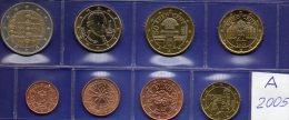 EURO Jahres-Set Österreich 2005 Stg.14€ Stempelglanz Staatlichen Münze In Wien 1C. - 2€ Set With 2€-SM Coins Of Austria - Oostenrijk