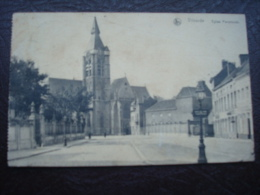 VILVOORDE - Eglise Paroissiale Et L'arrêt Du Tram En Avant Plan En 1922 - Vilvoorde