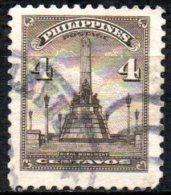PHILIPPINES 1947 Rizal Monument   - 4c. - Brown FU - Philippines