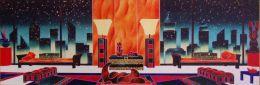 """X Kino MISTRAL - """"NEW YORK GREEN DECO'"""" - Litografia Di Misura Cm. 16x40 Numerata 72 SU 150 - Litografia"""