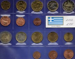 EFS-set EURO Griechenland 2002 Fremd-Ausgaben In Athen Stg. 37€ Stempelglanz Der Staatliche Münze 1C.-2€ Coins Of Hellas - Grèce