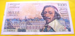 Billet 1000 Francs Richelieu Du 1/12/1955 - 1 000 F 1953-1957 ''Richelieu''
