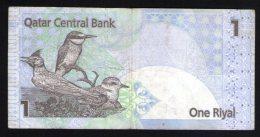 Billet De Banque Nota Banknote Bill 1 One Riyal QATAR Central Bank Birds Oiseaux - Qatar