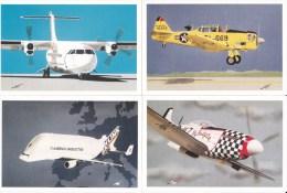 DES COLLAGES DU SUD Lot De 4 Cartes Postales Modernes Thème Les Avions, Les Aviateurs, L'aéropostale. Lot N° 7 - 1946-....: Modern Tijdperk