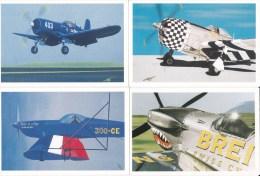 DES COLLAGES DU SUD Lot De 4 Cartes Postales Modernes Thème Les Avions, Les Aviateurs, L´aéropostale. Lot N° 11 VOLTIGE - Andere