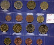 EURO-Satz Frankreich 2001 Prägeanstalt Paris Stg 20€ Im Stempelglanz Der Staatlichen Münze 1C.-2€ With 8 Coins Of FRANCE - France