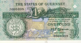 BILLET # GUERNESEY # 1980 # 1 LIVRE  # PICK 48  # NEUF  # D.de LISLE # - Guernesey