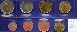 First EURO Set 1999 Niederlande Beatrix Stg 34€ Staatliche Münze Prägeanstalt Den Haag Stempelglanz 1C-2€ Coin Nederland - Netherlands