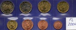 New Set EURO Finnland 2004 Prägeanstalt Helsinki Stg 30€ Stempelglanz Der Staatlichen Münze 1C-2€ Coins Of Soumi Finland - Finland