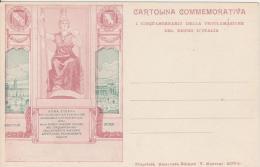 Cartolina Commemorativa Del Cinquantenario Della Proclamazione Del Regno D Italia - Eventi