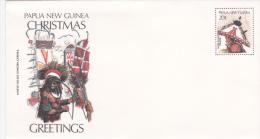 Papua New Guinea Postal Stationary: Dancers Christmas - Mint (G55-10) - Papouasie-Nouvelle-Guinée