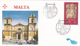 Pope John Paul II - Visit:  1990 Malta Zjara Tal IQ   (G55-11) - Papes