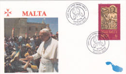 Pope John Paul II - Visit:  1990 Malta Valetta  (G55-11) - Papes