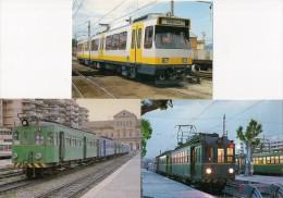ESPAGNE : VALENCIA Automotrices à Voie Métrique LOT De 3 CPM Détails Sur Le 2ème Scan - Tramways