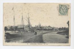 ABBEVILLE - 1907 - Le Port - Bâteau à Voile à Quai - Abbeville