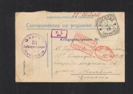 Cartolina Corrispondenza Coi Prigionieri Di Guerra Viverone Per Campo Mannheim 1918 - 1900-44 Victor Emmanuel III.