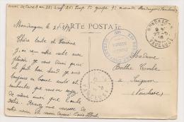 CARTE DE MONDRAGON A SAIGNON / CACHET DU 22EME REGIMENT D'INFANTERIE FRANCHISE POSTALE / AU DOS MAIRIE MONDRAGON CP8631 - 1. Weltkrieg 1914-1918