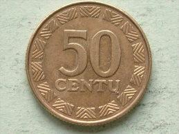 50 CENTU - 1997 / KM 108 ( For Grade, Please See Photo ) ! - Lituanie