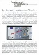 EURO - Banknoten , SPECIMEN-Satz Von 5 - 500 EURO Bankfrisch - Big Letter, Dispatch = 7,70  EURO  (registered) - EURO