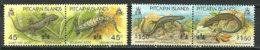 Lézards De L'Île Pitcairn (Océan Pacifique)  4 T-p Neufs ** - Reptiles & Batraciens