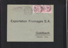 Egypt Cover Overprints 1923 To Switzerland - Egypt