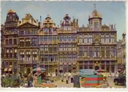 BRUSSEL - BRUXELLES: Grote Markt, Gildehuizen, Grand Place: Les Maisons Des Corporations - Markten