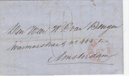 Complete Brief 22 Mei 1858 Tilburg (dagtekening Gebogen Jaartal) Naar Amsterdam - 1852-1890 (Guillaume III)