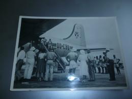Aviation Avion Sabena Arrival At Leopoldville Belgian Congo - Aviation