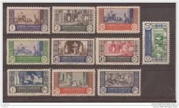 MA260-L4124TPO.Maroc.Marocco .MARRUECOS ESPAÑOL ARTESANIA.1946. (Ed 260/9**)sin Charnela. - Profesiones