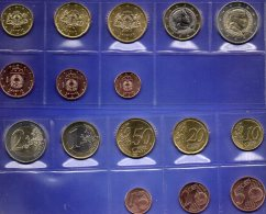 New EURO-Einführung Lettland 2014 Stg 22€ Stempelglanz Der Staatlichen Münze Riga Set 1C. - 2€ Coins Republik Of Latvija - Latvia
