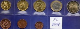 Finnland EURO 2006 Prägeanstalt Helsinki Stg. 24€ Stempelglanz Der Staatlichen Münze Set 1C.- 2€ Coins Of Soumi Finland - Finland