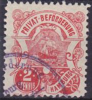 1888 PRIVAT BEFÖRDERUNG HAMBURG SAILSHIP - Bateaux