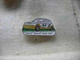 Pin´s Rallye, Course De Voiture: Weiss Rallye Team 1992 Sur Renault 5 - Renault
