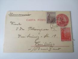 Argentinien 1912 Kartenbrief / Ganzsache Nach Deutschland Mit Zusatzfrankatur!! - Ganzsachen