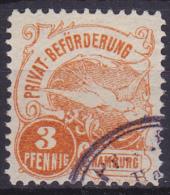 1888 PRIVAT BEFÖRDERUNG HAMBURG PIGION WITH MAIL - Pigeons & Columbiformes