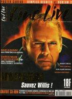 Ciné Live N° 15 Bruce Willis Duchovny Annie Girardot Uma Thurman Ralph Fiennes - Cinéma