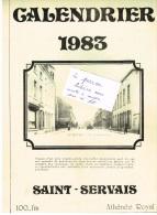 NAMUR - SAINT-SERVAIS - Calendrier 1983 - Athénée Royal - Format 22,5 / 35 Cm - Grand Format : 1981-90
