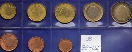 EURO Mix-set Belgien 1999-2002 Prägeanstalt Brüssel Stg. 24€ Stempelglanz Der Staatlichen Münze 1C.- 2€ Coins Of Belgica - 1993-...: Alberto II