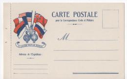 Correspondance Militaire - Drapeau Américain - Guerra 1914-18