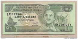 Etiopia - Banconota Non Circolata A 1 Birr - Ethiopie