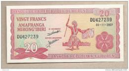 Burundi - Banconota Non Circolata Da 20 Franchi P-27d.5 - 2007 - Burundi