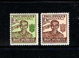 Philippines 1948 Sc # 528a / 529a  MNH **  Boy Scouts - Scoutisme