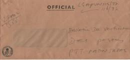Nigeria 1987 Lagos Official Postal Service Handstamp Unfranked Window Cover - Nigeria (1961-...)