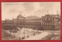 BBRA-21  Quartier Général De L'Armée à Rio Janeirom -  Tramway.  Non Circulé.  A. Zoller. - Rio De Janeiro
