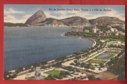 BBRA-26 Rio De Janeiro  Praça Paris E O Pao De Açucar.   Circulé Sous Enveloppe - Rio De Janeiro